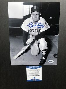Bob Doerr autographed signed 8x10 photo Beckett BAS COA Red Sox Bobby MLB HOF