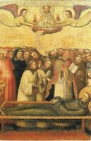 Print of the Painting of The Funeral of Saint Francis of Assisi by J. da Bologna