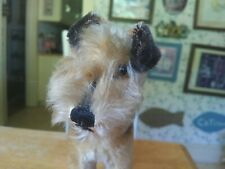 Antique Vintage 1950s mohair Steiff Airdale Terrier Teddy bear friend 9in EUC