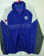 NFL New York Giants SI Light Weight Jacket Windbreaker Large by Reebok Team Appa