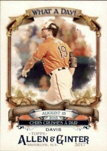 A7622- 2017 Topps Allen and Ginter BB 325 Inserts -You Pick- 10+ FREE US SHIP