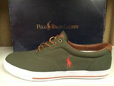 Polo Ralph Lauren Vaughn Men's Canvas Fashion Sneakers Shoes Green Pink