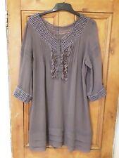 Ladies Casual Short Purple Dress / Tunic Size 20
