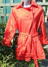 LA REDOUTE Lightweight Red Mac Jacket Trench Coat  Size 10-12-NEW!!