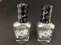 LOT of (2) LA Girl Color Pop Nail Polish GNL839 SILVER STREAK  - .47 Fl Oz NEW
