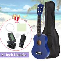 21'' Soprano Ukulele Ukelele + Sintonizador + Plectro+Bolsa Guitarra Madera Set