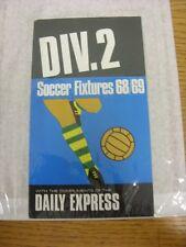 1968/1969 diarios Express: División 2 accesorios de fútbol-con complementos de la da