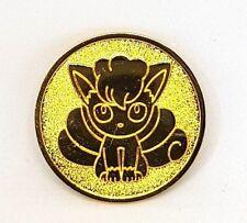 Pokemon Center Vulpix Rokon Crystal Alola Coin Münze Spielmarke Gold Sun Moon