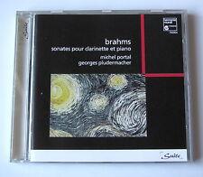 MICHEL PORTAL  GEORGES PLUDERMACHER .BRAHMS. SONATES POUR CLARINETTE ET PIANO.CD