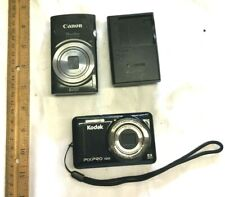 Camera Lot Canon Power Shot Elph160, Kodak Pixpro FZ53, Canon Charger CB-2LF