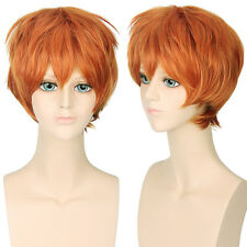 Unisex Anime Short Straight Cosplay Party Synthetic High Temperature Hair Wigs