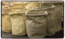 Laundry juta sacco CESTINO PICCOLO Toy Box Storage Bag cesto con manici forte