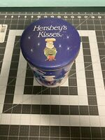 Vintage Hershey Kisses Container Canister Tin Limited Edition #5 Winter Holiday
