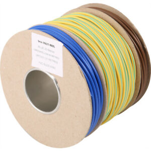 Electrical PVC Earth Blue Brown Sleeving 2mm 3mm 4mm 5mm & 6mm Tubing Wire Cable