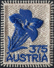 "2008 ""Austria"" Gentian embroidered stamp, flowers VF/MNH, LOOK!"
