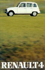 2 Renault 4 Prospekte 1980er Jahre