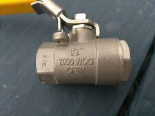 "NEW PARKER 1/2"" 2000 WOG CF8M BALL VALVE STAINLESS STEEL"