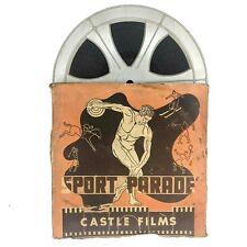 1949 Sport Parade 16mm Castle Films Auto Racing B&W Movie w/ Sound Vintage F2