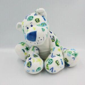 Peluche chat tigre blanc vert bleu chiffres étoiles ANNA CLUB PLUSH - Chat, Lion