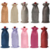 7pcs/set Organza Wine Bottle Gift Wrapping Favor Party Bag Wine Bottle Bags US