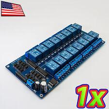 16 Channel 250VAC DC 10A Relay Module Board Shield Arduino Pi 5V Optoisolated IO