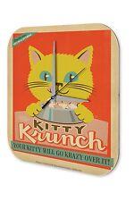 Orologio da parete  Arredamento Cucina  Marke Nostalgia giallo gattino cibo per