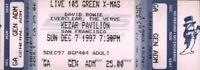 DAVID BOWIE 1997 EARTHLING TOUR UNUSED KEZAR PAVILION CONCERT TICKET / NM 2 MINT