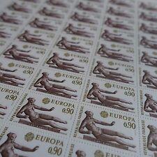 feuille sheet Europa Luft- Maillol Nr.1790 x50 1974 neuf luxe mnh Wert