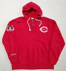 Mitchell And Ness Cincinnati Reds Sweatshirt XL Hoodie MLB Red