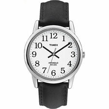 New listing Timex T20501, Men's Easy Reader Black Leather Watch, Indiglo