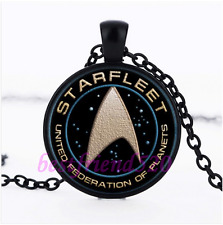 Star Trek Photo Glass Pendant Black Necklace for man woman Jewelry