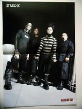 COUPURE DE PRESSE-CLIPPING :  STATIC X / SIX FEET UNDER - Poster  12/2003