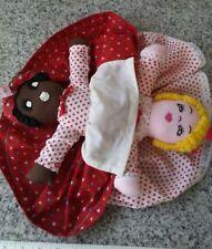 topsy turvy 14 inch handmade two sided stuffed rag doll