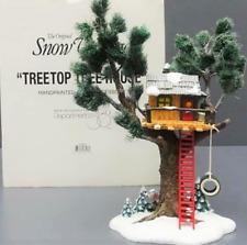 "Dept 56 Snow Village Treetop Tree House 11"" Tree Top TreeHouse Ladder Tire Swing"