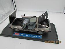 Sun Star 1981 DeLorean LK Die-Cast Car 1:18 scale Mounted on Base DMC BTTF