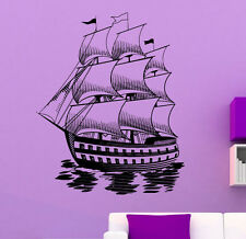Marine Ship Wall Decal Vinyl Sticker Nautical Pirates Interior Art Decor (4shp)