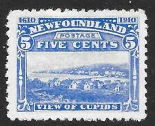 Newfoundland 1910 5c Bright Blue SG 99 (Mint)