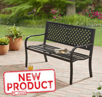 Steel Bench Seat Metal Frame Chair Outdoor Garden Porch Patio Yard Backyard New