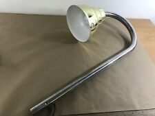 Lamp Curved Silver Gold Tone Vintage 32� Tall Missing Base K2