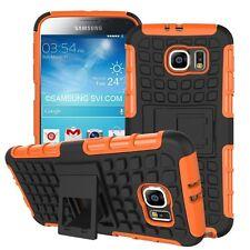 A prueba de choques Alta Resistencia Fuerte De Doble Capa Carcasa Protectora De Teléfono Protección + base ✔ Naranja