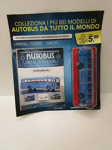 AUTOBUS DAL MONDO NUM 1 FIAT 306/3 CANSA 1962 SCALA 1/43 SIGILLATO HACHETT-ZZ-X2