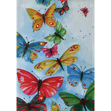 """Butterflies Are Free Garden Flag 12.5"""" X 18"""" Seasonal 11-2781-16 Summer Rain"""