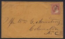 US 1859 Sc. #26 DULL RED PARTIAL DOUBLE FRAME LINE LEFT PEN CANCEL FROM PLYMOUTH