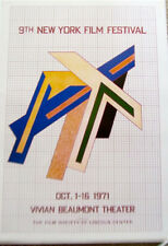 Frank Stella Mini-Poster for Ninth Film Festival 1971 Offset Lithograph 16x11