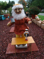 "VINTAGE TELCO ANIMATED TOY MAKER ELF 21""TALL  W/ORIGNAL BOX FREE SHIPPING"