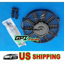 """10"""" 12V 80W 850 CFM Slim Electric Radiator Cooling Thermo Fan w/Mounting kit"""