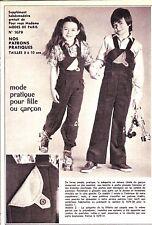 PATRON DE COUTURE Mode pratique pour fille et garçon  taille 8 à 10 ans