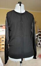 H&M Divided black crew neck chiffon sweater S 4 EUC