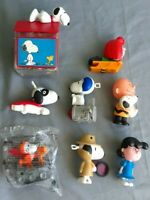 Peanuts Snoopy  McDonalds Happy Meal Toys,and 50 anniversary bank Lot Of 8-C88