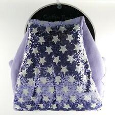 CYNTHIA ROWLEY SEQUIN MERMAID SNUGGLE TAIL PURPLE W / STARS BLANKET SLEEPING BAG